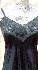 vintage 30s 40s decorated black slip