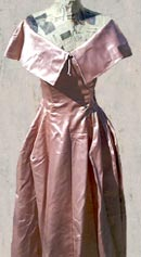 vintage  40s 50s Fred Perlberg satin ball gown
