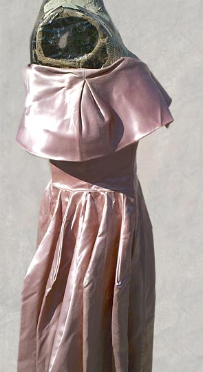 vintage 40s 50s Fred Perlberg satin gown