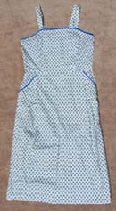 vintage 40s checked cotton sundress