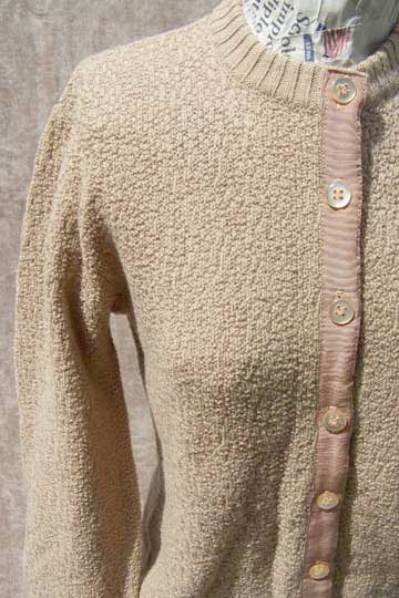 Vintage designer Koret boucle cardigan, late 1950s to mid 1960s | deadlyvintage.com from deadlyvintage.com