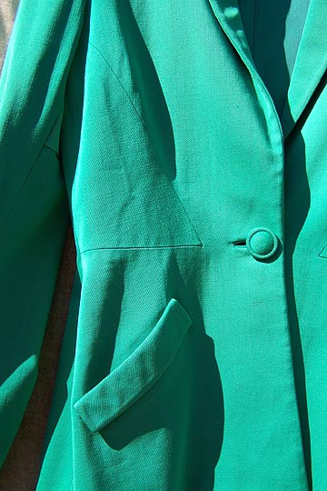 vintage 40s green rayon jacket