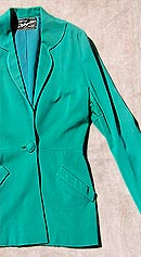 vintage 40s 50s green rayon jacket