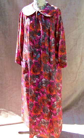 vintage 50s mad men floral robe
