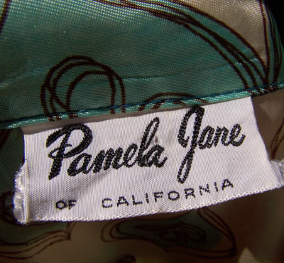 vintage 50s Pamela Jane label