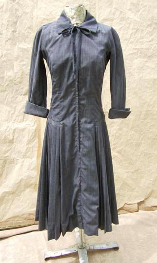 vintage 50s pleated circle dress