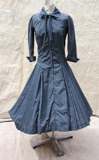 vintage 50s new look pleat dress