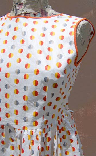 Vintage Polka-dot sundress, late 1950s to mid 1960s | deadlyvintage.com :  girly dress vintage girls
