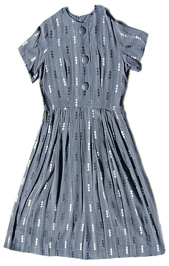 vintage 50s plus size grey dress