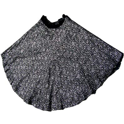 Vintage Metallic lace circle skirt, late 1950s to mid 1960s | deadlyvintage.com