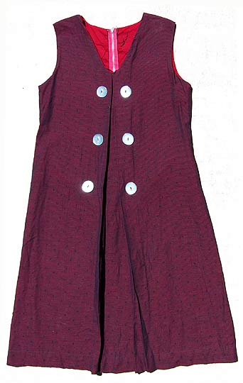 Vintage Oxblood dotted playsuit late 1940s to mid 1950s deadlyvintage com from deadlyvintage.com