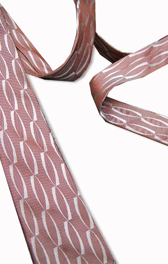 Mad Men 50s 60s red & silver tie