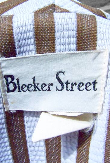 vintage 60s Bleeker Street label