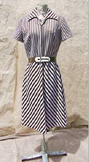 vintage 60s 70s Bleeker Street mod stripe dress
