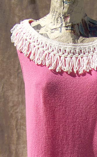 Vintage Darlene fringed cover-up, late 1950s to mid 1960s | deadlyvintage.com