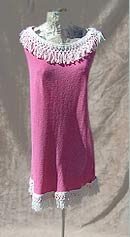 vintage 60s mod fringed pink cover up