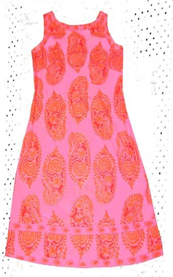 Vintage Thai print sundress late 1960s to mid 1970s deadlyvintage com from deadlyvintage.com