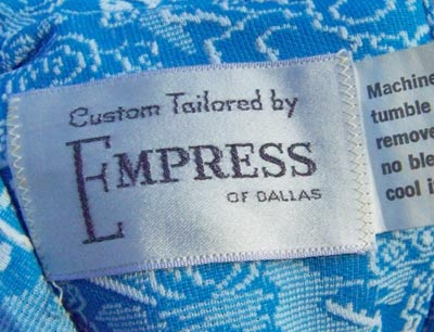 vintage 60s Empress of Dallas label