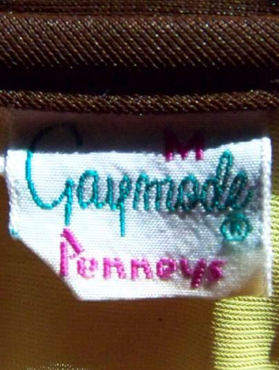 vintage 60s 70s Penneys Gaymode label
