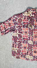vintage 50s Jack Winter tribal print top