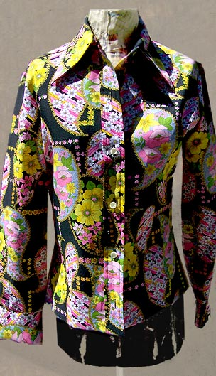 vintage 70s psychedelic funky top