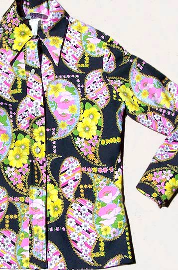 vintage 70s psychedelic print top