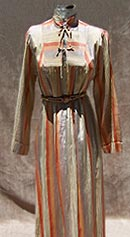vintage 60s 70s iridescent silk caftan dress