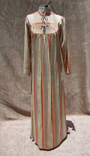 vintage 60s boho silk kaftan dress