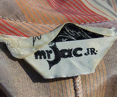 vintage 70s Mr Jac label