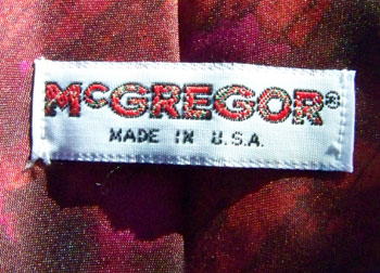 vintage 60s McGregor label