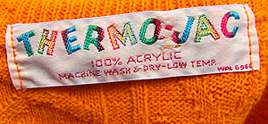 vintage 60s Thermo-Jac label