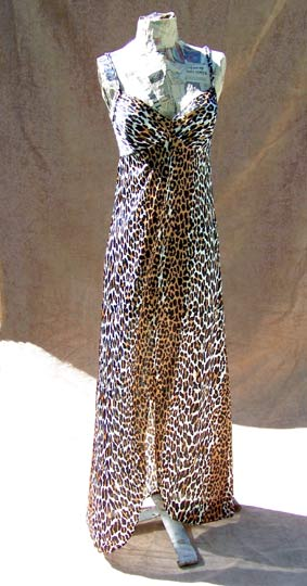 Vintage designer Vanity Fair leopard-print nightgown, late 1970s to early 1980s | deadlyvintage.com :  lingerie nightgown brown vintage