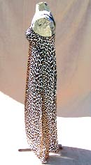 vintage 70s Vanity Fair leopard nightgown