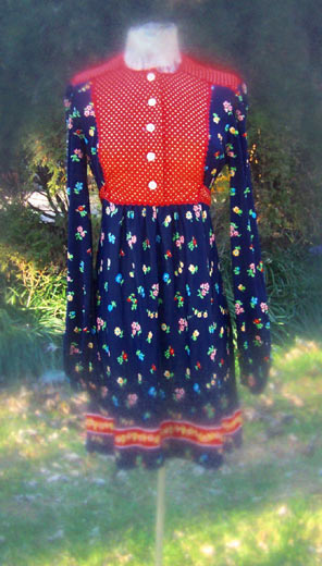 vintage prairie boho mini dress