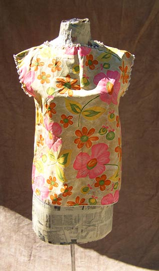 vintage 60s floral shell top