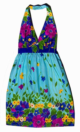 vintage psychedelic club dress