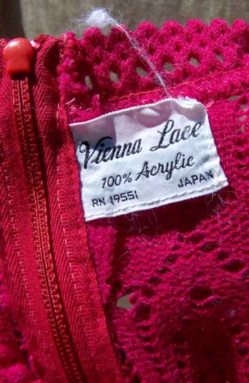 vintage 60s Vienna Lace label