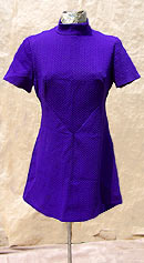 vintage 60s purple mini dress