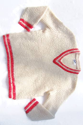 vintage mohair tennis sweater