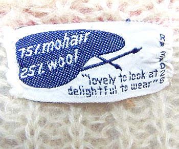 vintage 50s 60s sweater label