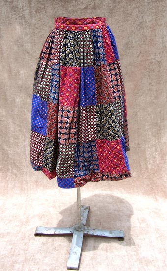 vintage 50s chintz skirt
