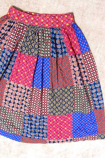 vintage 50s quilted skirt