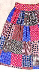 vintage 50s gathered skirt
