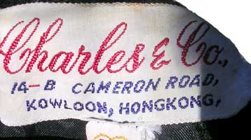 vintage 50s Charles &amp co. label