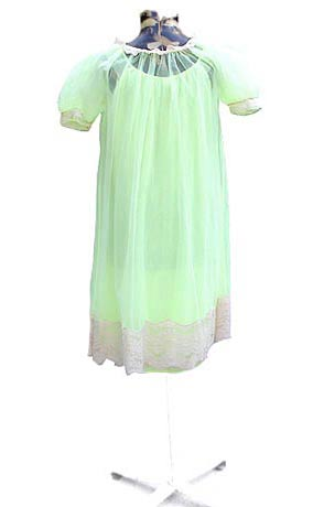 50s chartreuse negligee