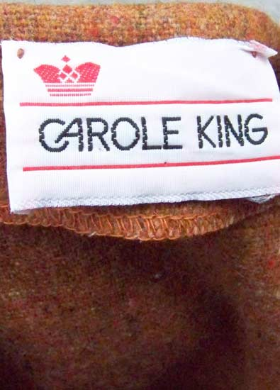 vintage 70s Carole King label
