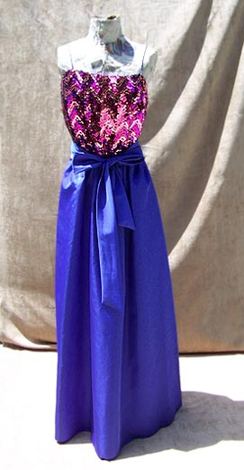 vintage 70s Miss Elliette sequin gown