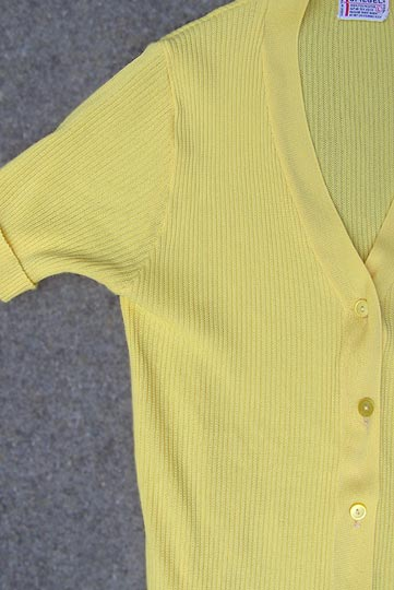 vintage 70s ribbed poorboy knit top