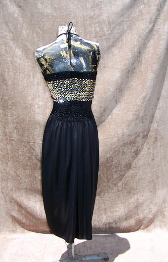 vintage 60s metallic tube dress