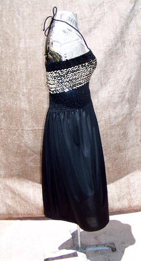 vintage 70s disco glam dress